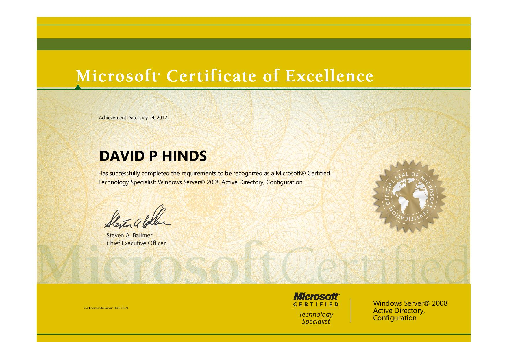 Microsoft Certified It Professional Mcitp Davids Computer
